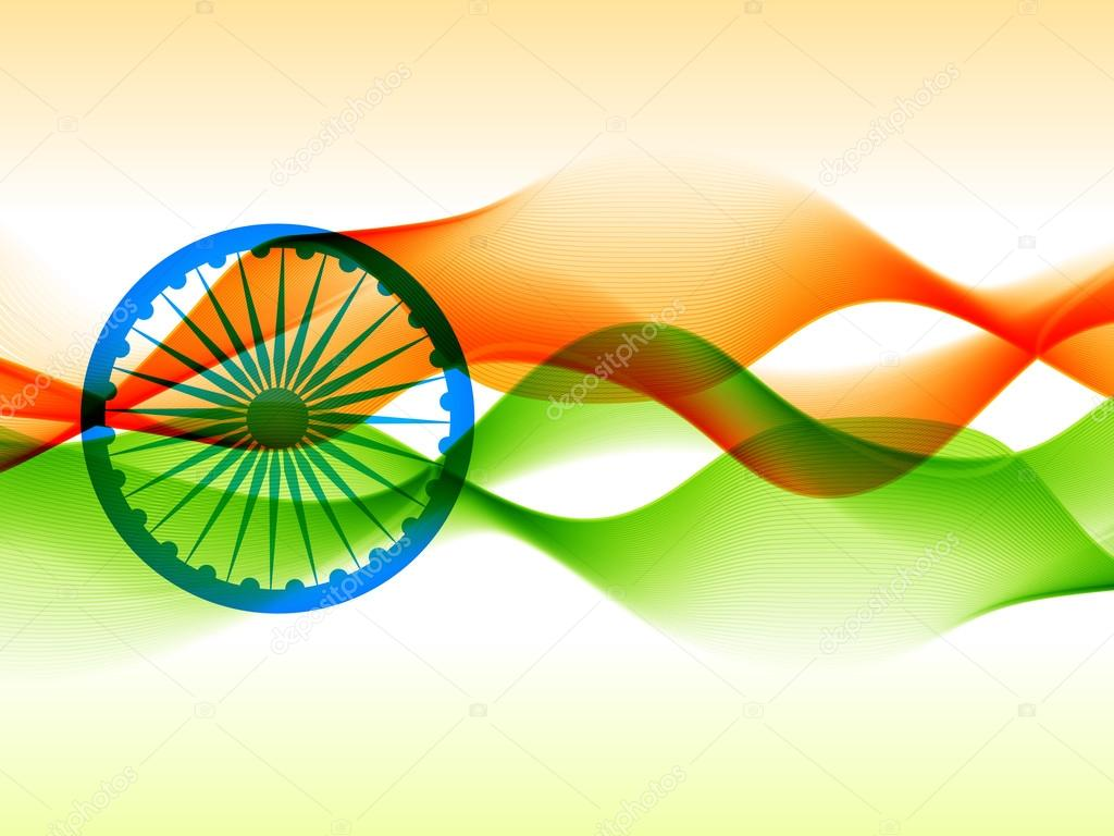 Indian flag design made with in wave style