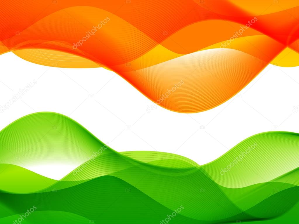 Wave style indian flag design