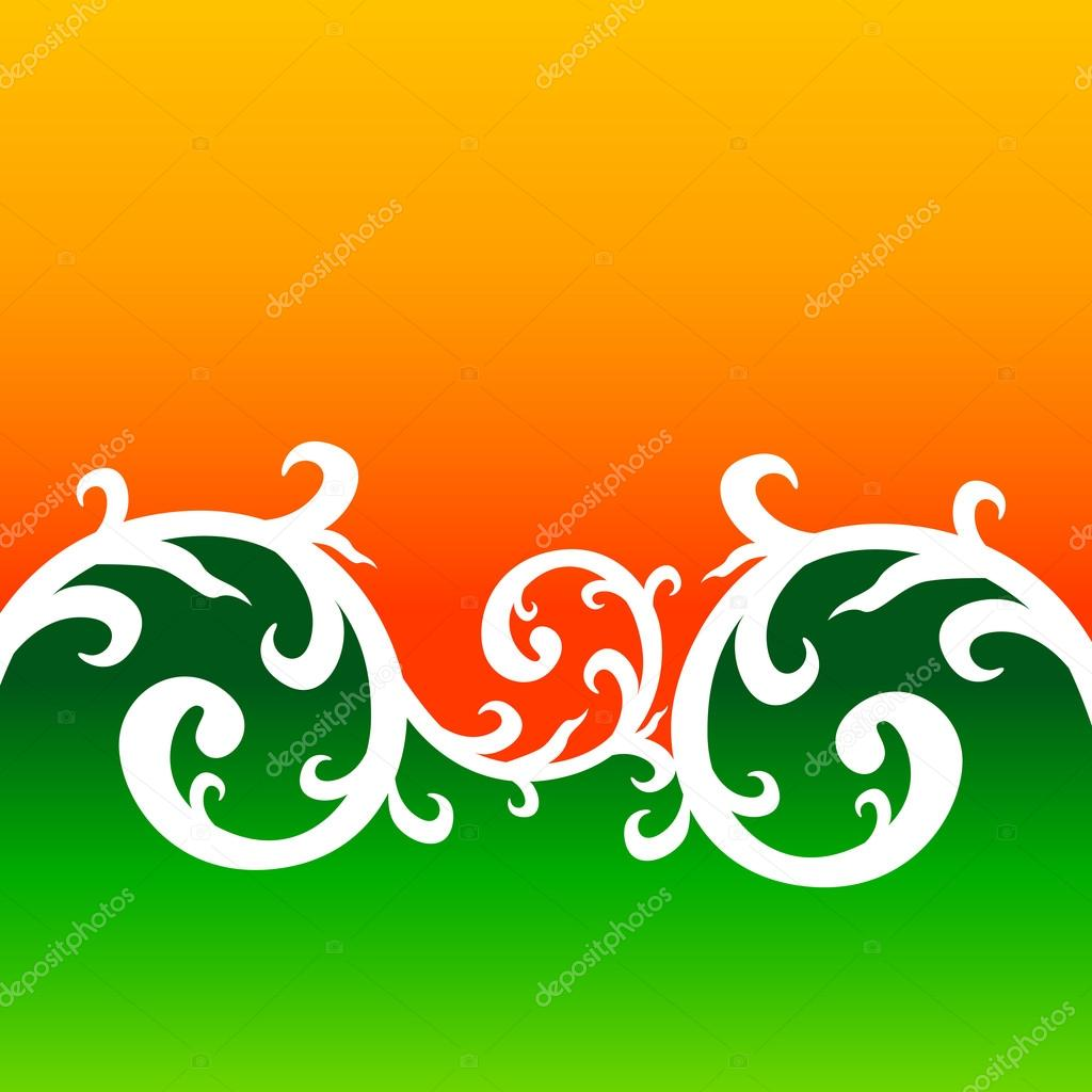 Creative floral style background forming indian flag