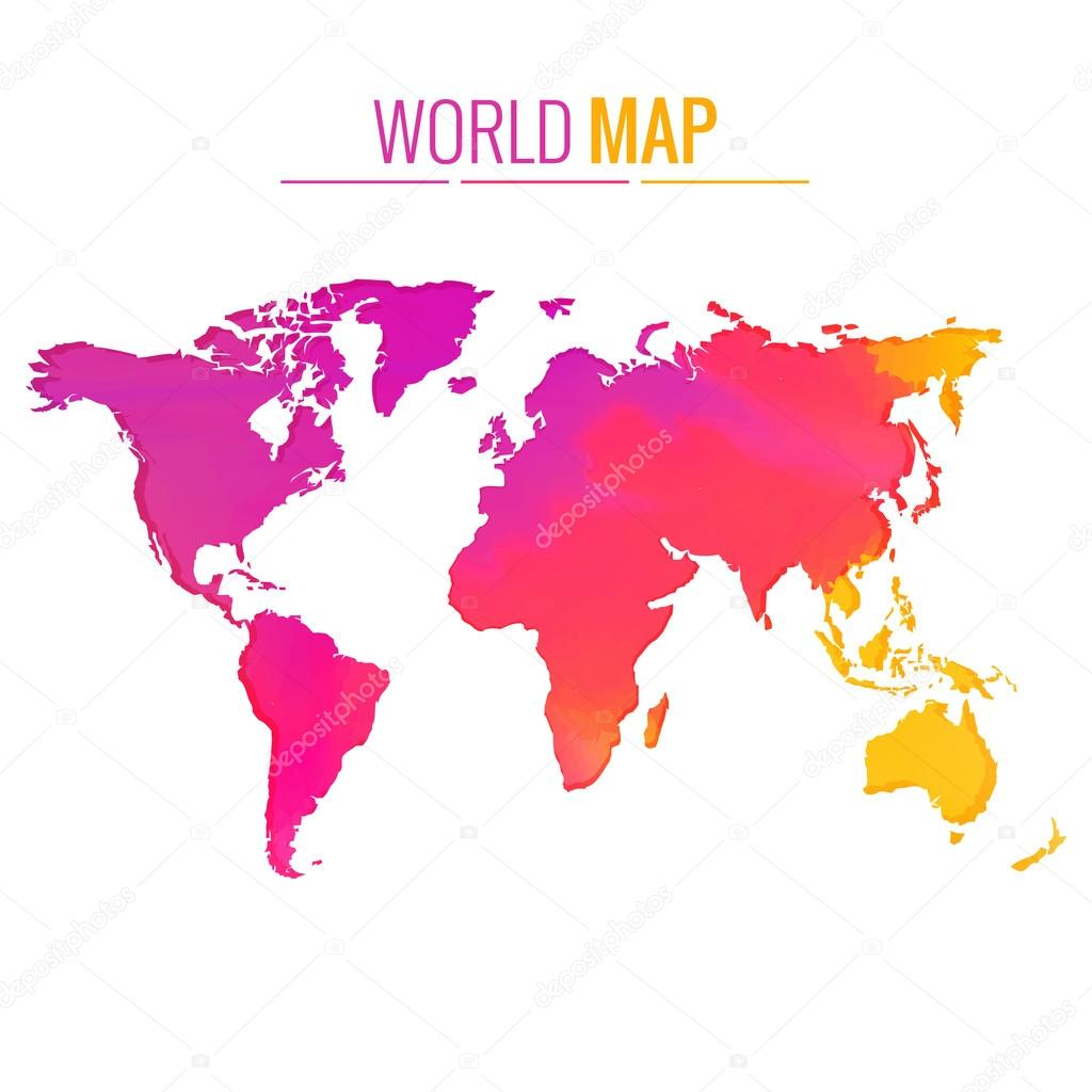 Colorful world map vector design stock vector pinnacleanimate colorful world map vector design illustration vector by pinnacleanimate gumiabroncs Image collections