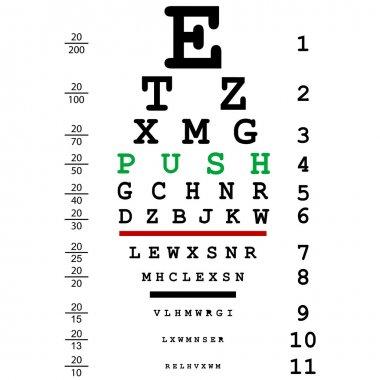 Optical eye test