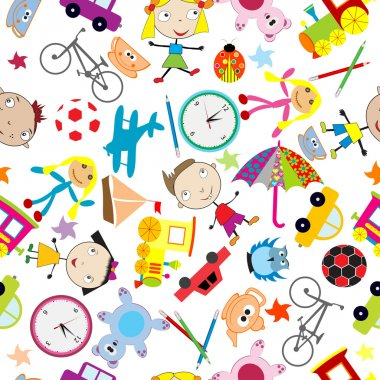 pattern for kids with toys