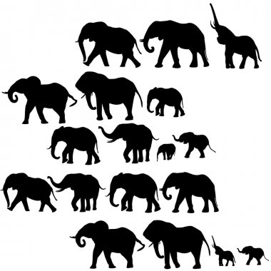Background with elephants