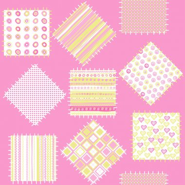 Blanket with pink patches