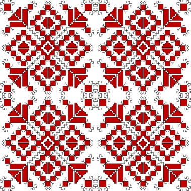 Red ethnic ornaments