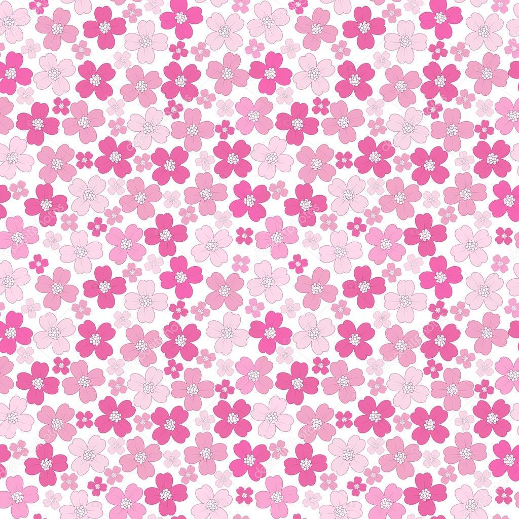 Patrón de fondo transparente floral bebé niña — Vector de stock ...