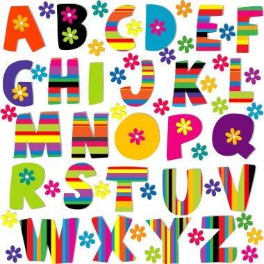 Happy alphabet set
