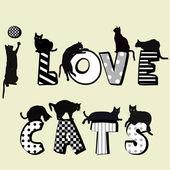 Fotografia Io amo i gatti