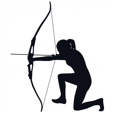 Female archer with bow and arrow