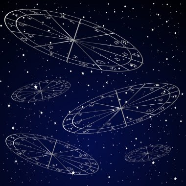 Natal charts astrology background