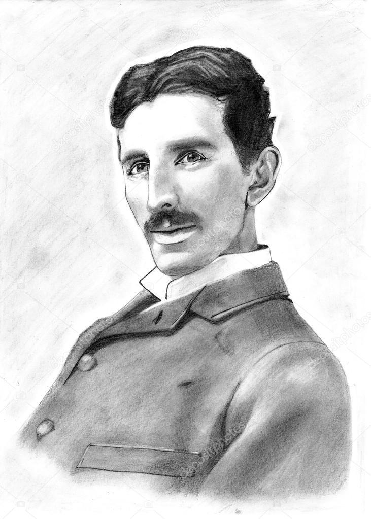 Nikola Tesla Drawing Stock Editorial Photo Adamr 85251630