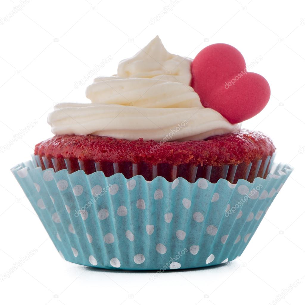 Kırmızı Kalp Muffin