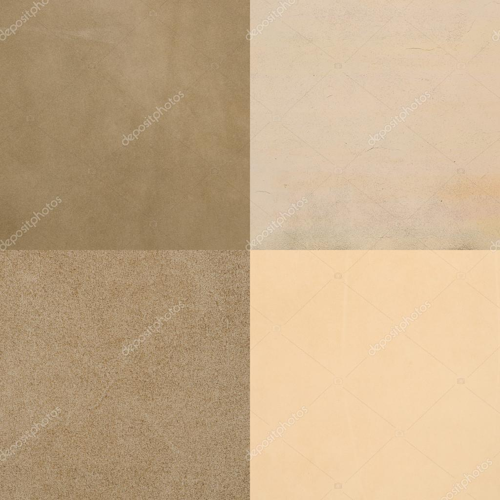 Set Of Beige Leather Samples, Texture Background. U2014 Foto De Homydesign