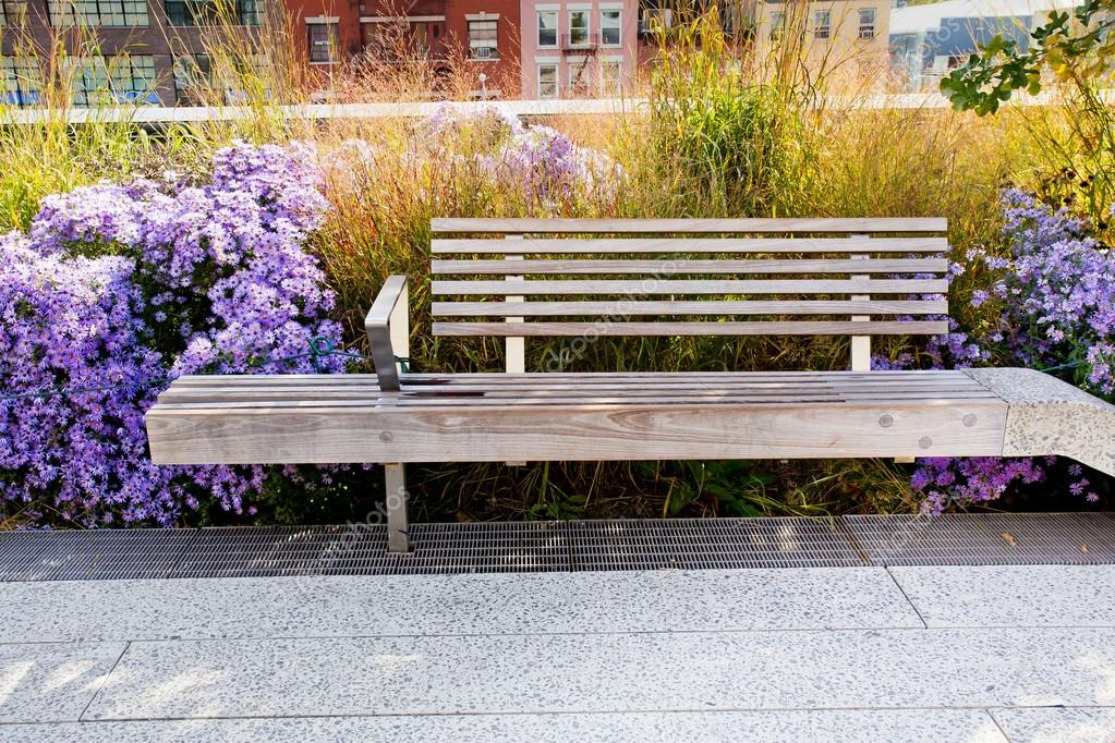 High Line Park Bench Stock Photo C Littleny 105480792
