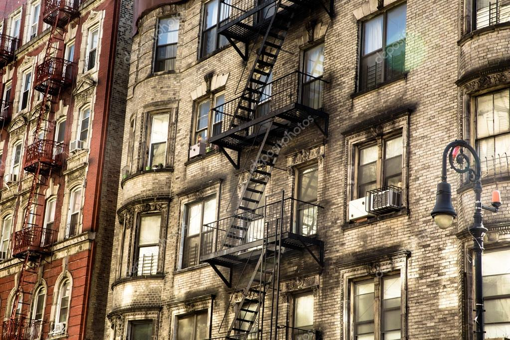 nyc apartment buildings. Old NYC Apartment Buildings  Stock Photo littleny 113895796