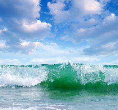 """Картина, постер, плакат, фотообои """"океанские волны в Солнечный день"""", артикул 67510691"""
