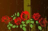 Abstraktní květy růže vzorek background.vector