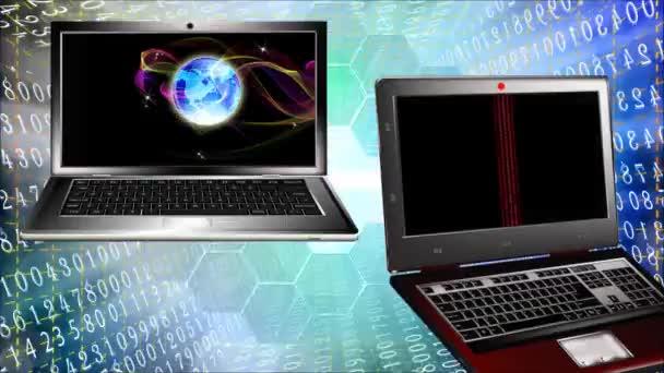 Genetika research.Computer klonování lidí budoucnosti. Animace
