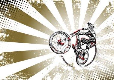 retro bmx freestyle poster background