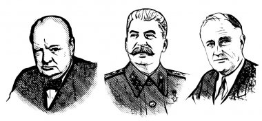 Churchill, stalin and roosevelt