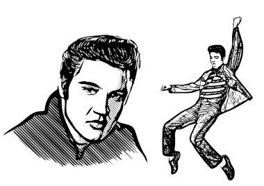 Elvis presley vector illustratiion