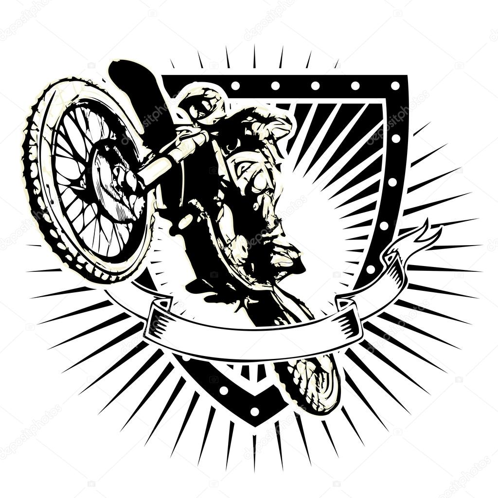 motocross shield  u2014 stock vector  u00a9 ranker666  62209253