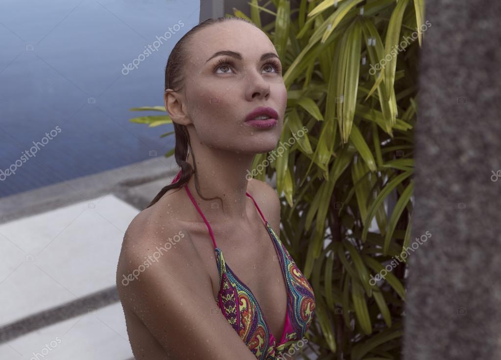 Sexy Blonde In Shower