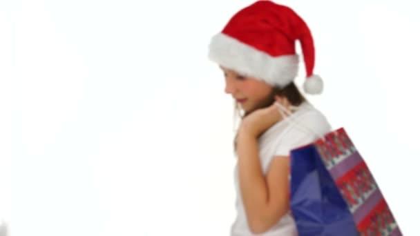 fiatal lány ünneplő karácsony