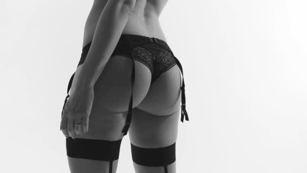 Sexy žena v černém prádle