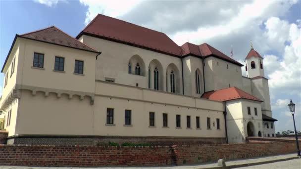 Pohled na hrad Špilberk v Brně, Česká republika.