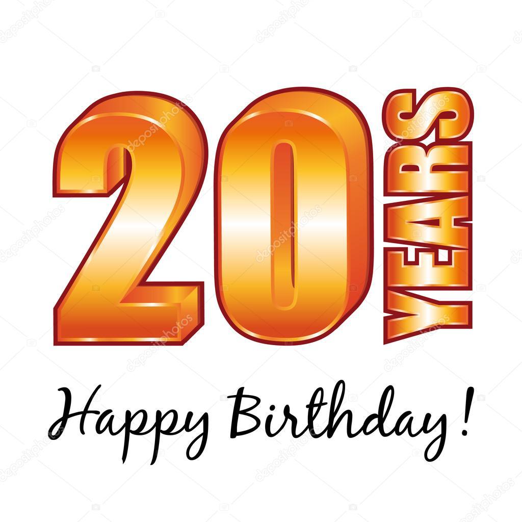 Открытки 20 лет днем рождения