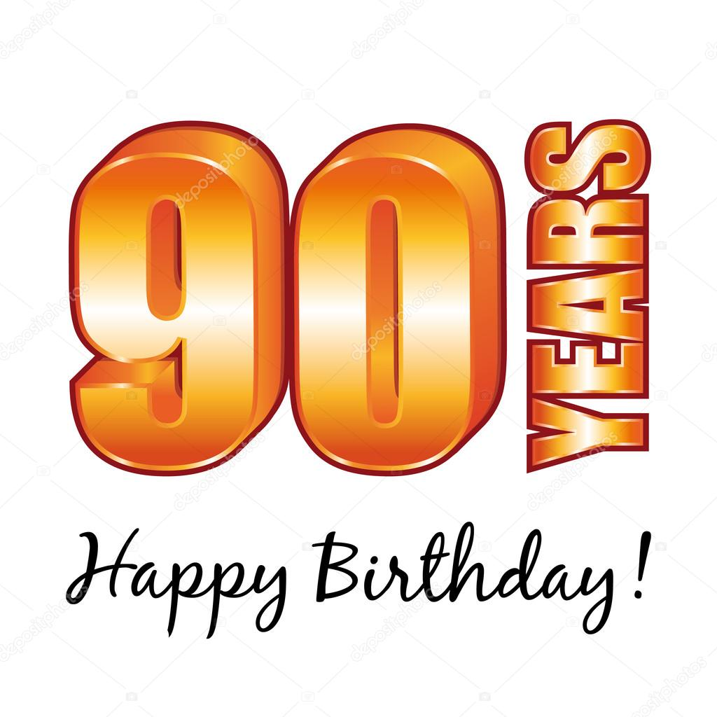 Happy birthday 90 years old vector greeting card stock vector happy birthday 90 years old vector greeting card stock vector bookmarktalkfo Image collections