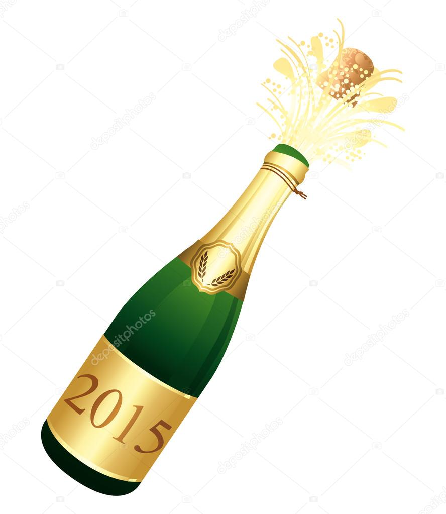 2015 Champagne bottle.