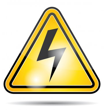 Electrical power danger icon.