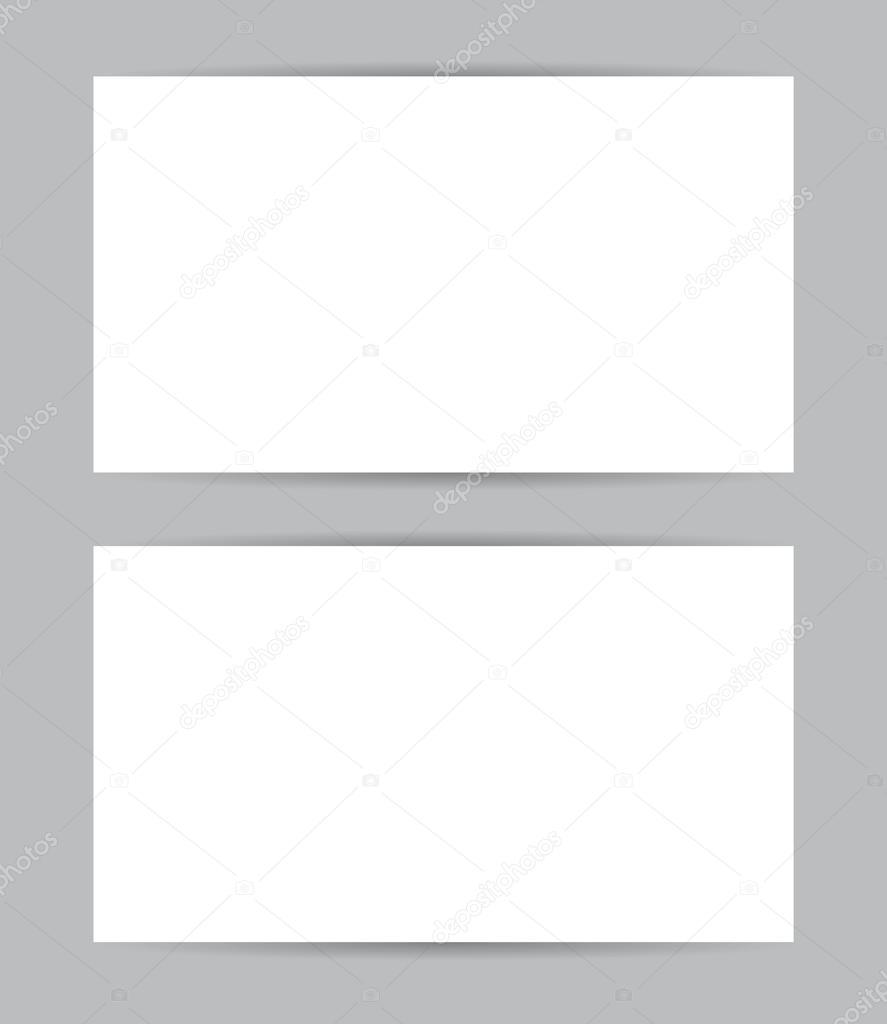Conception Graphique Carte De Visite Recto Et Verso Modle Vierge Set Vector