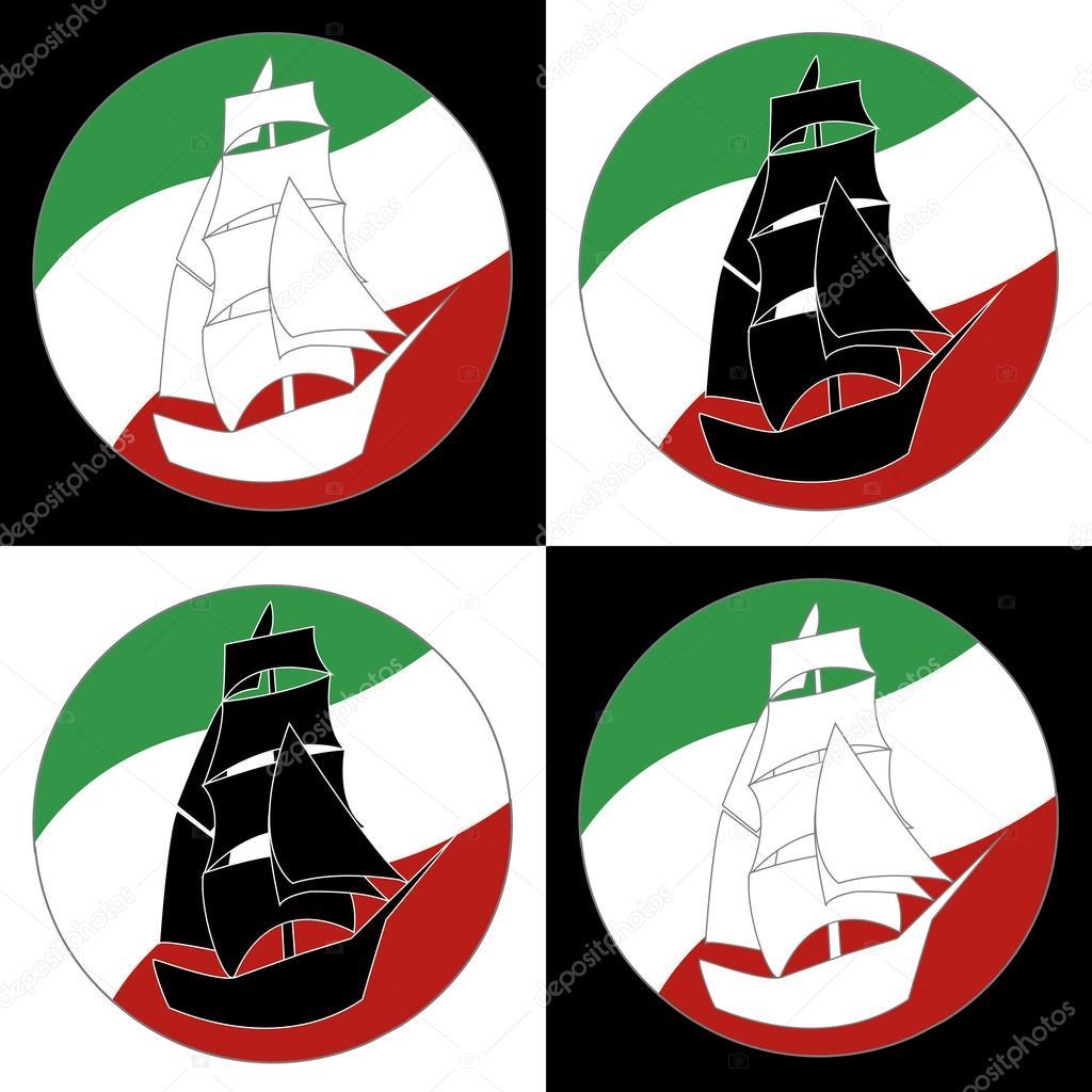 Barco de vela barco Vintage Logo — Vector de stock © chasdesign ...