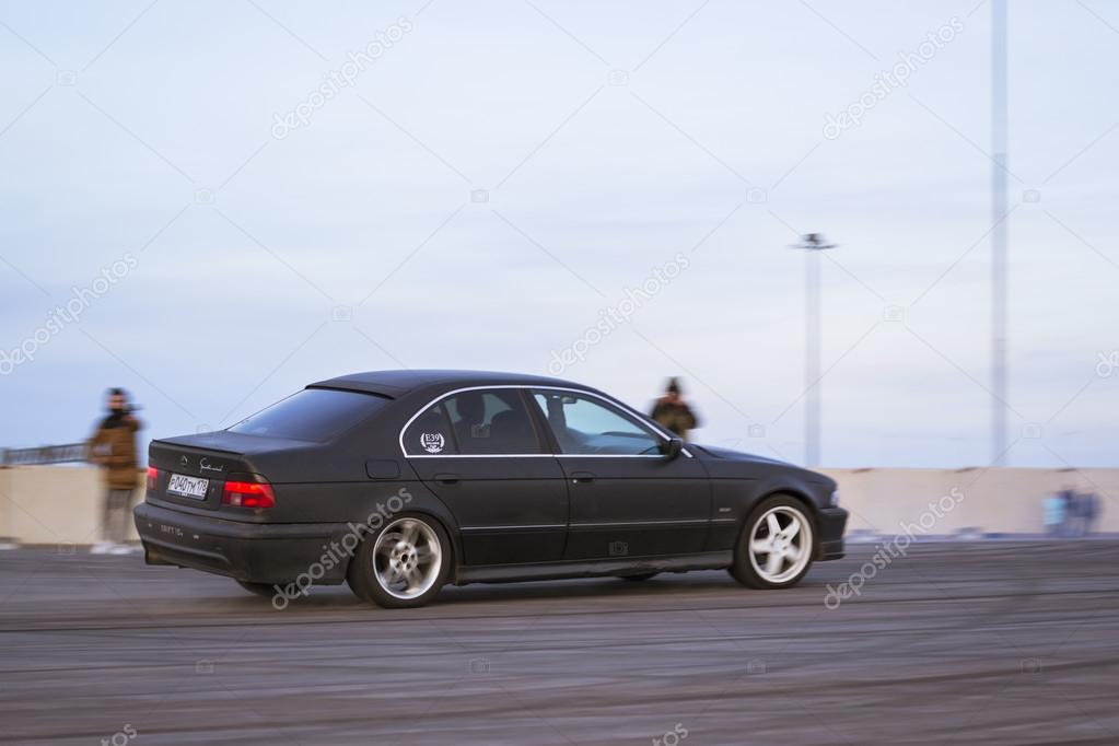 Old Car Bmw Series To Drift Stock Editorial Photo