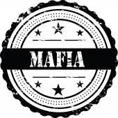 Fotografie Mafia / Grunge schwarz Abzeichen