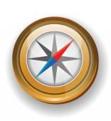 Kompasu ikona izolovaných na bílém