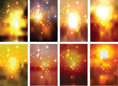 Set of Autumn Blurry Background stock vector