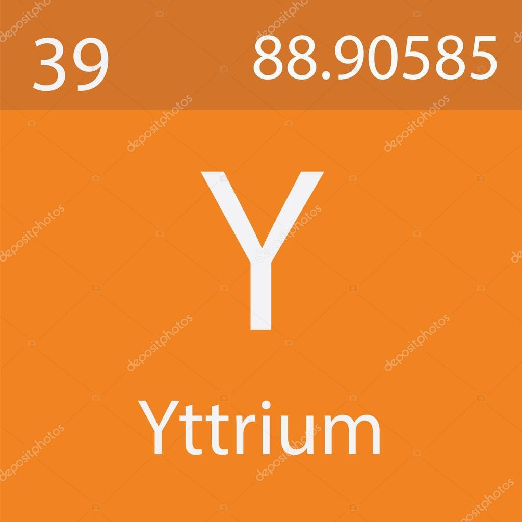 Yttrium Chemical Signsymbol Stock Photo Bigfatnapoleon 103767934