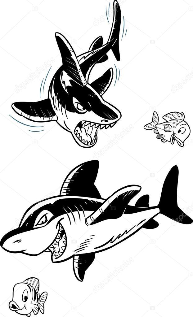 Sharks and fish