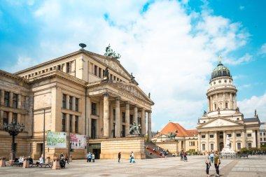 BERLIN, GERMANY- May 18, 2016: The Gendarmenmarkt is a square in
