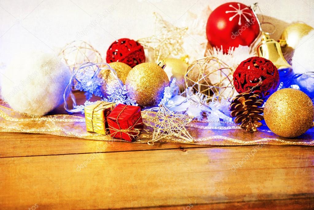 Altmodische Weihnachtsschmuck — Stockfoto © ilolab #57149937