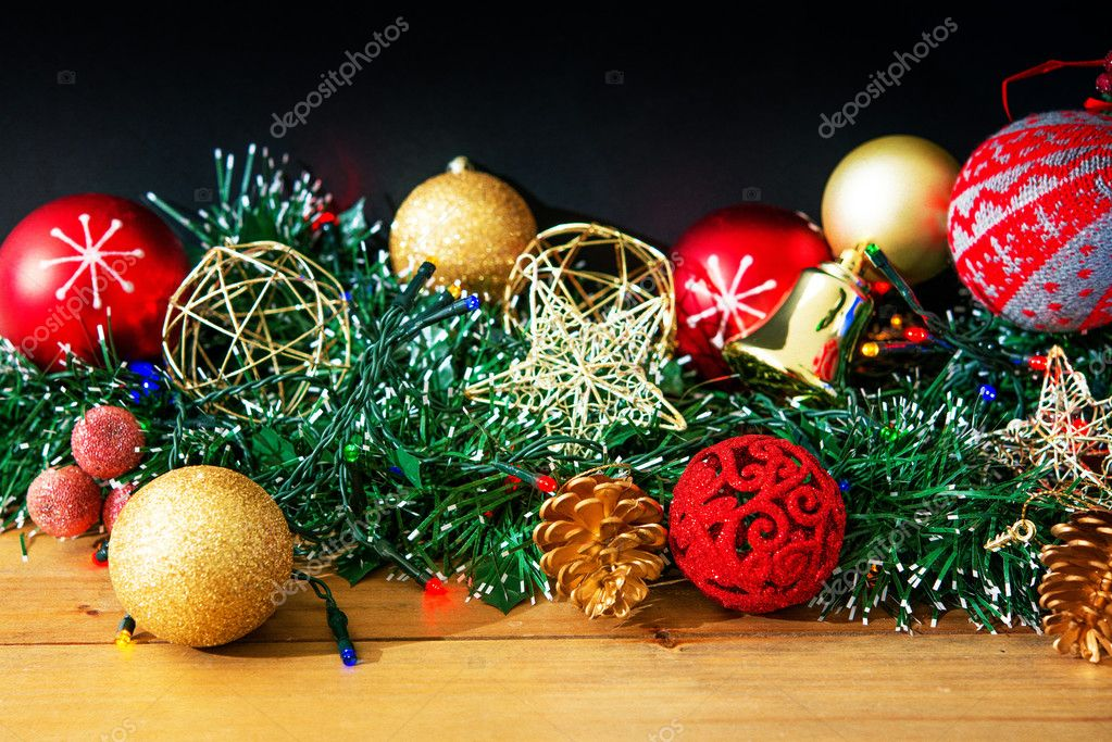old fashioned christmas decoration stock photo