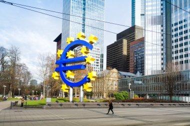 Frankfurt, Germany - January 27 : Euro Sign. European Central Ba