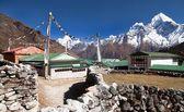 Monte Ama Dablam e Khumjung villaggio vicino a Namche bazar