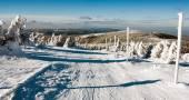 pohled na běžecké lyžování způsobem a mount Serak