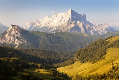 Morning view of Mount Civetta