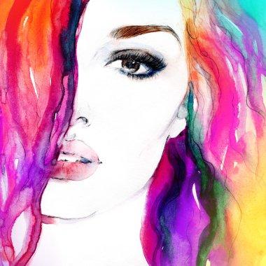 Beautiful woman face.